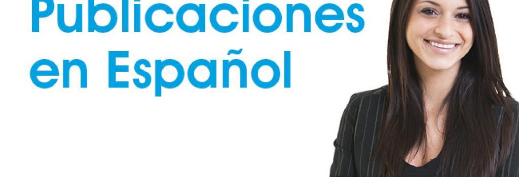 image of a woman with the text publicaciones en espanol