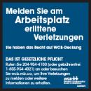 Injury Reporting Sticker - German